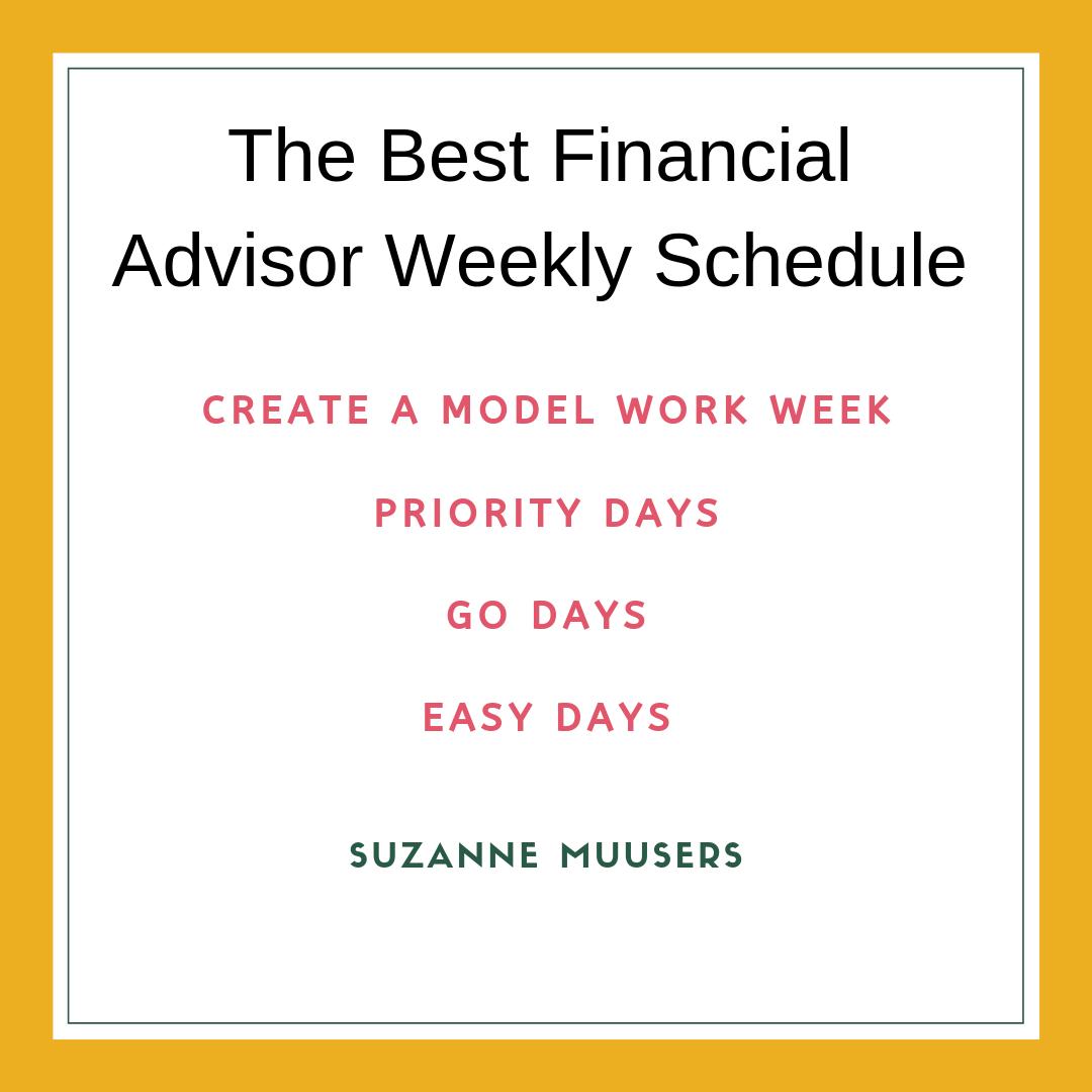 model work week go days priority days easy days