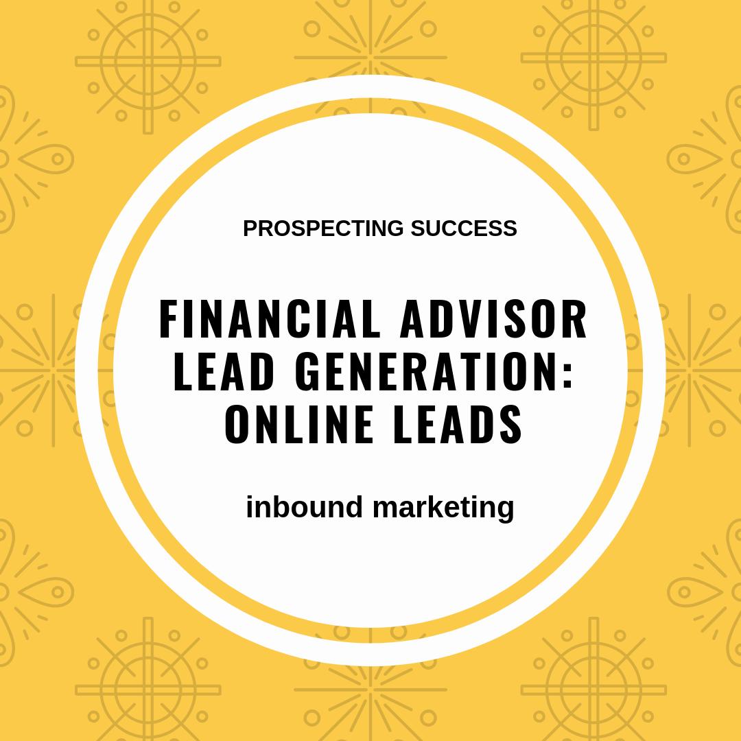 financial advisor lead generation