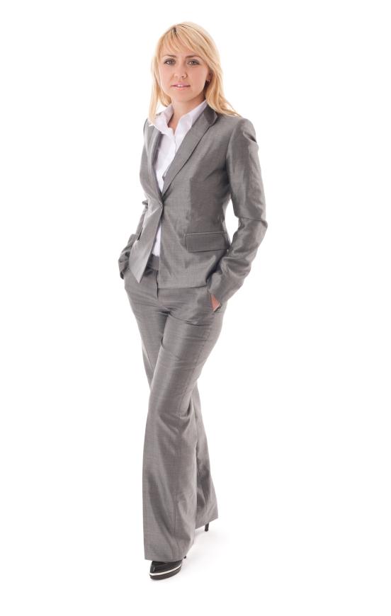 Portrait of happy businesswoman in formal dress