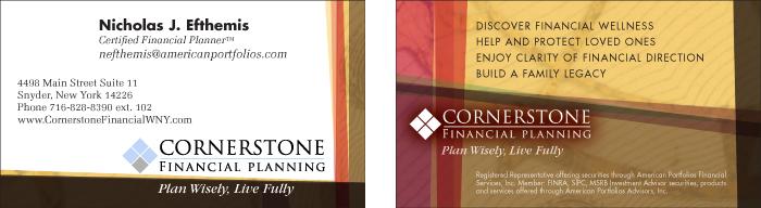 same financial planner business card