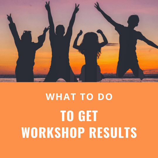 what to do to get financial advisor workshop results