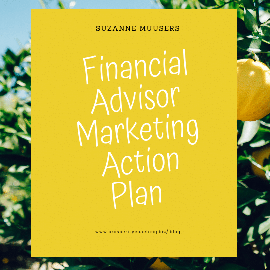 financial advisor marketing action plan