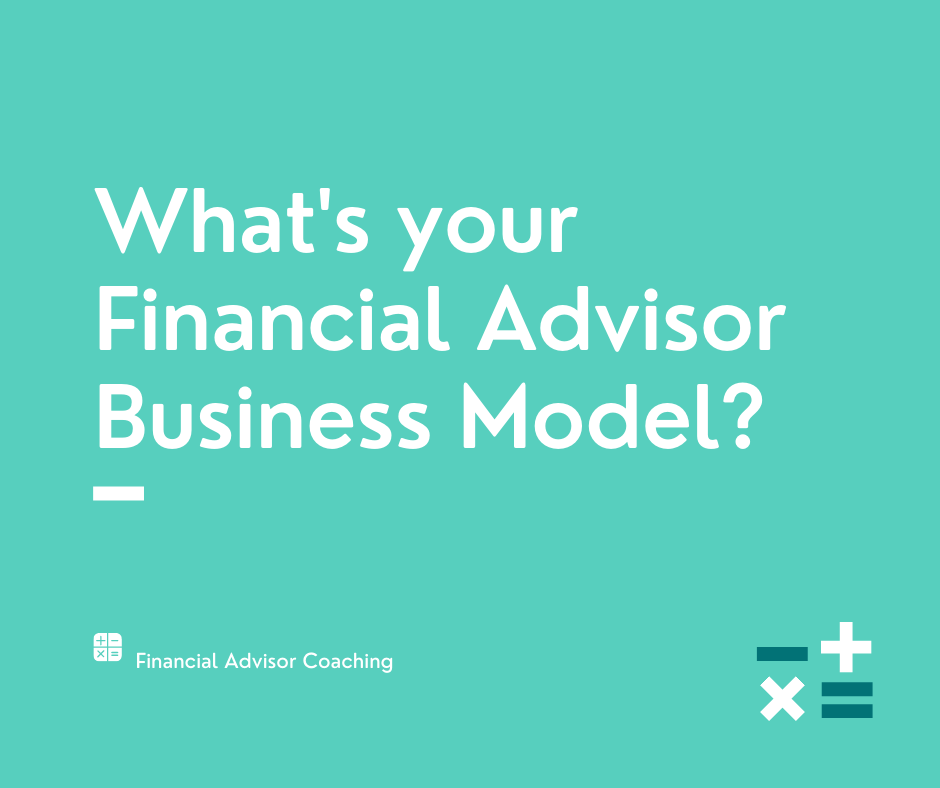 financial advisor business model