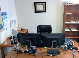typical financial advisor office