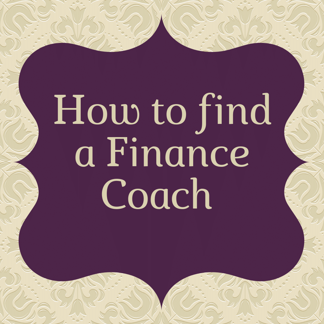 how to find a finance coach