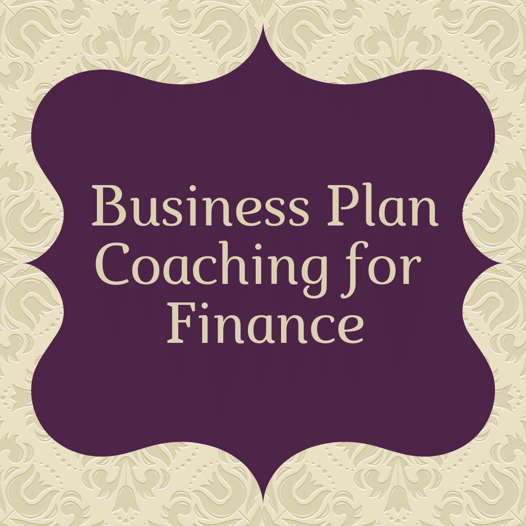 business plan coaching for finance